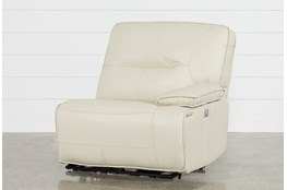 Marcus Oyster Right Arm Facing Power Recliner With Power Headrest And USB