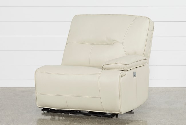 Marcus Oyster Right Arm Facing Power Recliner With Power Headrest And USB - 360