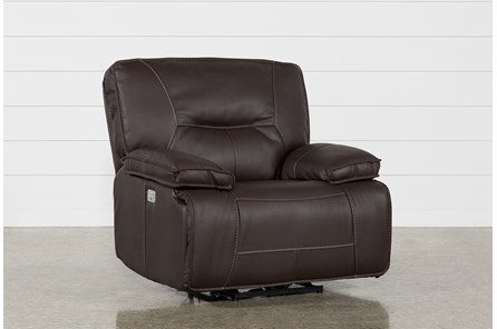 Marcus Chocolate Power Recliner With Power Headrest And Usb - Main