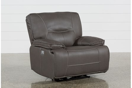 Marcus Grey Recliner With Power Headrest And USB - Main