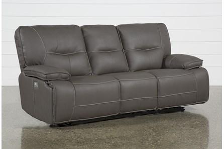 Marcus Grey Power Reclining Sofa W/Power Headrest & Usb - Main