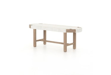 Summer Outdoor Bench-Washed Brown