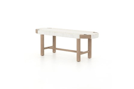 Sumner Outdoor Bench-Washed Brown - Main