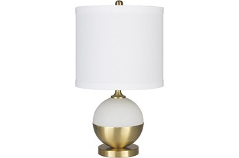 Table Lamp-Brass And Frosted Glass