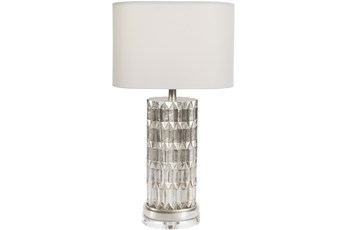 Table Lamp-Siver Gilded With Acrylic Base
