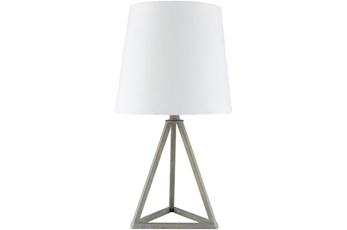 Table Lamp-Grey Metal