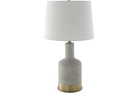 Table Lamp-Light Grey Painted Concrete - Main