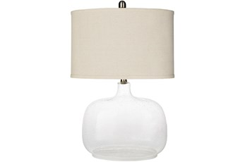 Table Lamp-Clear Translucent Glass