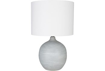 Table Lamp-Grey Hand Finished Plaster