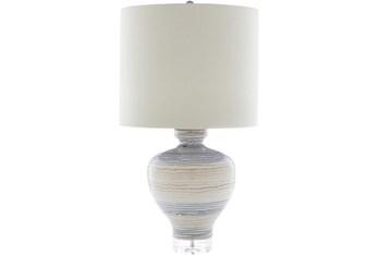 Table Lamp-Multicolored Glazed Ceramic
