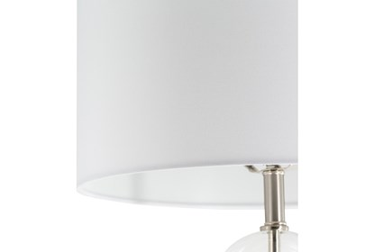 Table Lamp White Clear Painted Translucent Glass Living Spaces