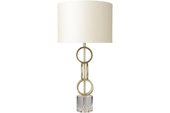 Table Lamp-Gold Gilded Metal