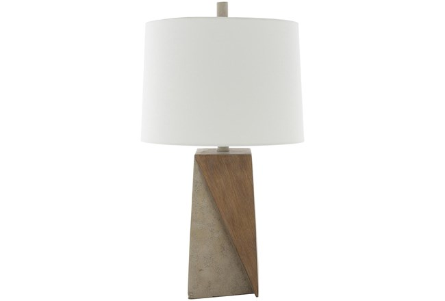 Table Lamp-Two Tone Concrete - 360