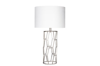 Table Lamp-Silver Gilded Metal