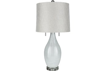 Table Lamp-White Pearlized Glass