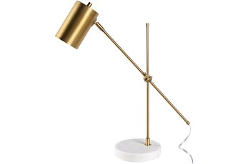 Table Lamp-Brass Brushed Meta