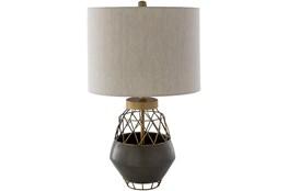 Table Lamp-Brown Antiqued Metal