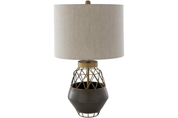 Table Lamp-Brown Antiqued Metal