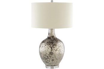 Table Lamp-Silver Painted Glass