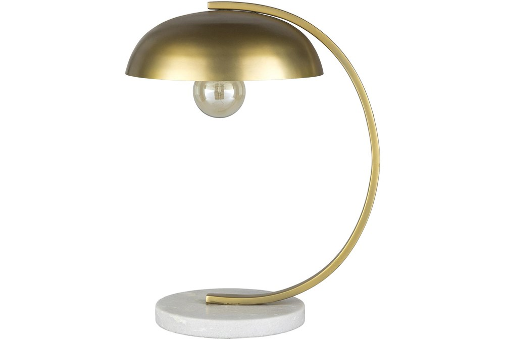 Table Lamp-Gold Powder Coated Metal