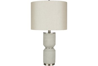 Table Lamp-Gray Distressed Concrete