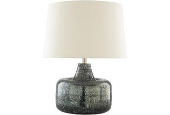 Table Lamp-Gray Antiqued Metal
