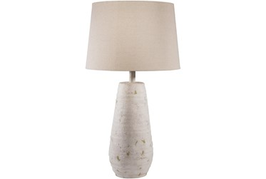 Table Lamp-Ivory Hand Finished Composition