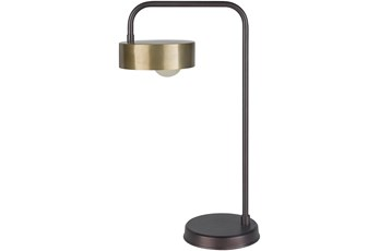 Table Lamp-Bronze Powder Coated Meta