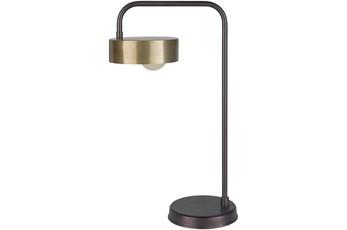 Table Lamp-Bronze Powder Coated Meta
