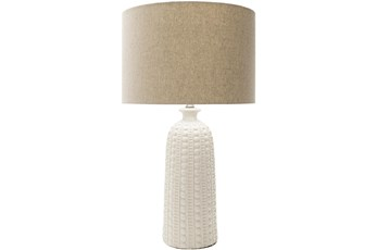 Table Lamp-Gray Hand Finished Composition