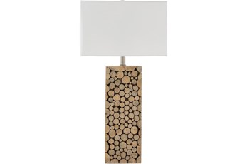 Table Lamp-Wood Natural Finish