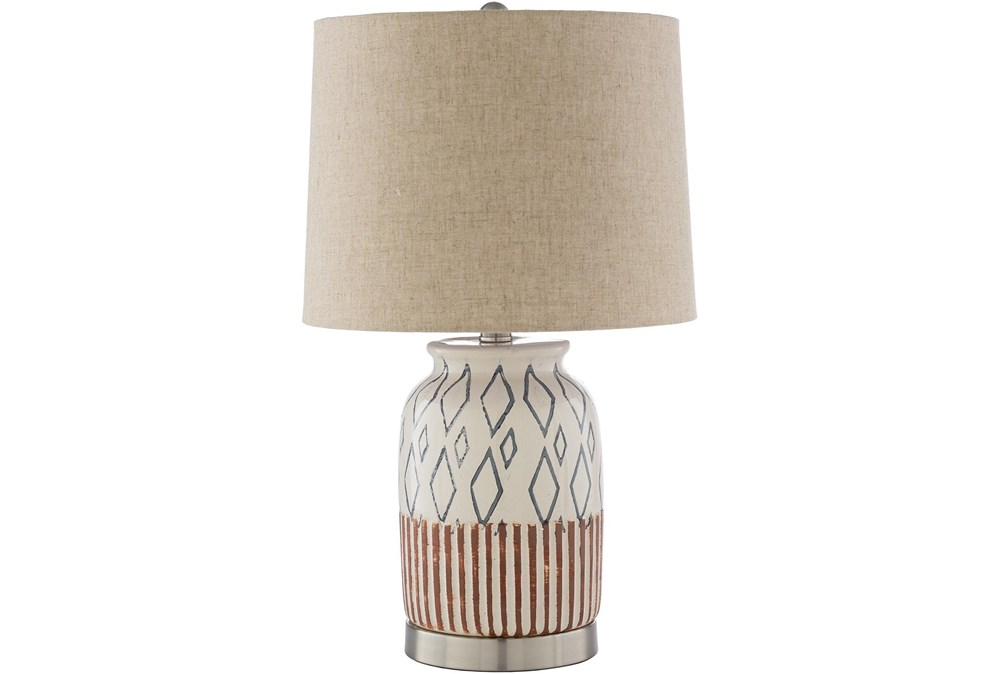 Table Lamp-Multi-Colored Hand Painted Ceramic