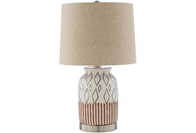 Table Lamp-Multi-Colored Hand Painted Ceramic - 360