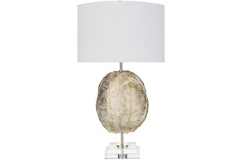 Table Lamp-Mint Gold Hand Finished Composition