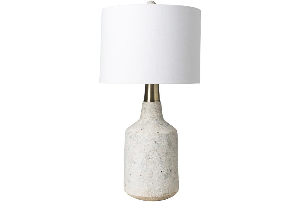 Table Lamp-White Textured Concrete