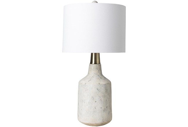 Table Lamp-White Textured Concrete - 360