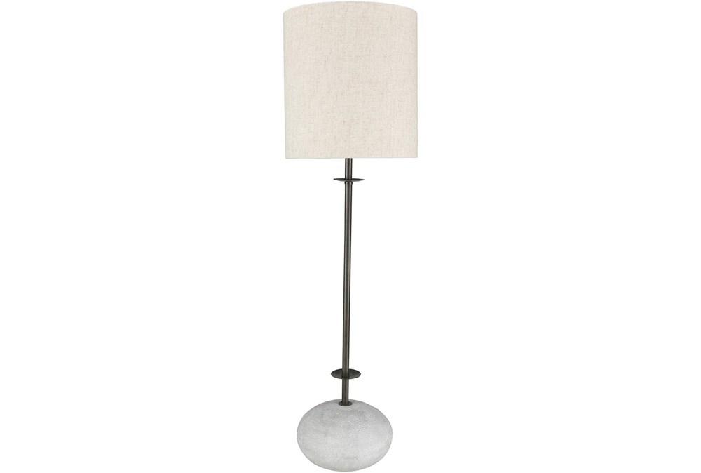 Table Lamp-Sandblasted Stone Base