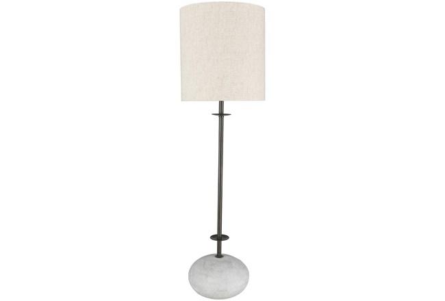 Table Lamp-Sandblasted Stone Base - 360