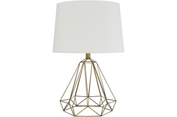 Table Lamp-Brass Antiqued Metal