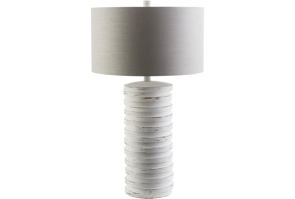 Table Lamp-Ivory Distressed Composition