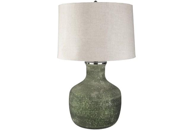 Table Lamp-Dark Green Sandblasted Glass - 360