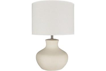Table Lamp-Cream Glazed Ceramic