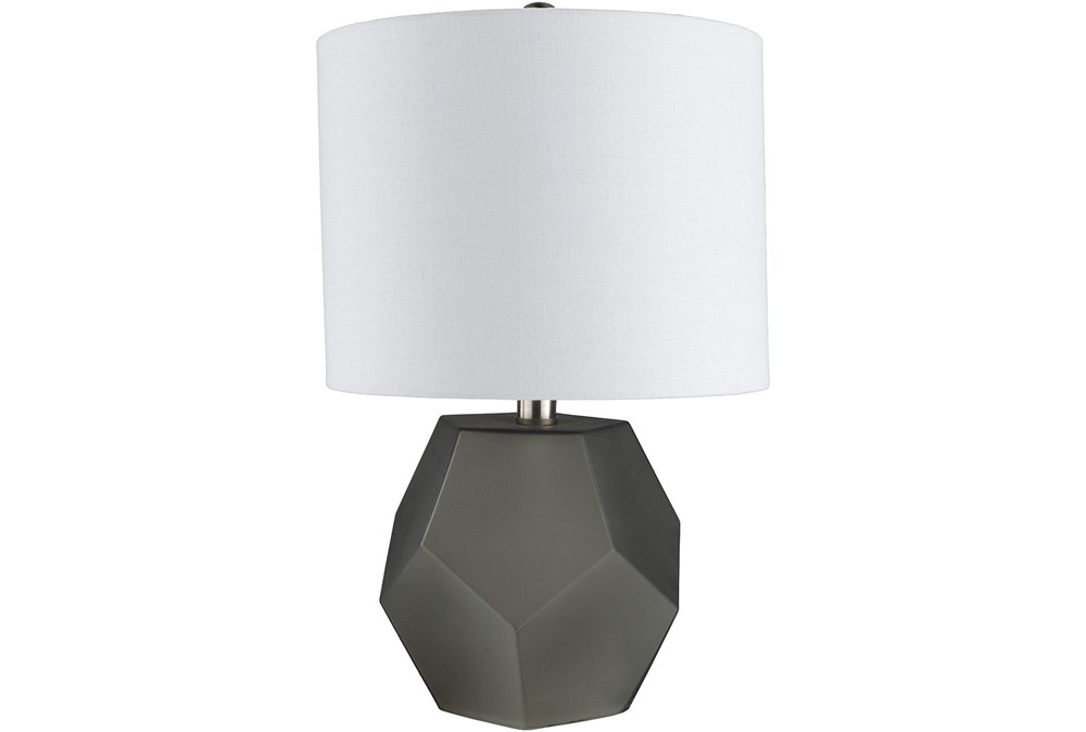 Table Lamp-Geo Charcoal