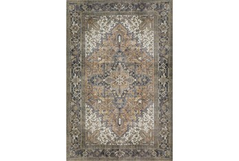 """3'3""""x5'3"""" Rug-Sterling Distressed Chocolate"""