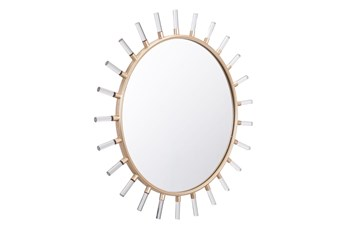 Mixed Material Sunburst Wall Mirror