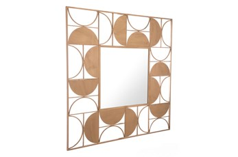 Square Gold Cut Out Wall Mirror