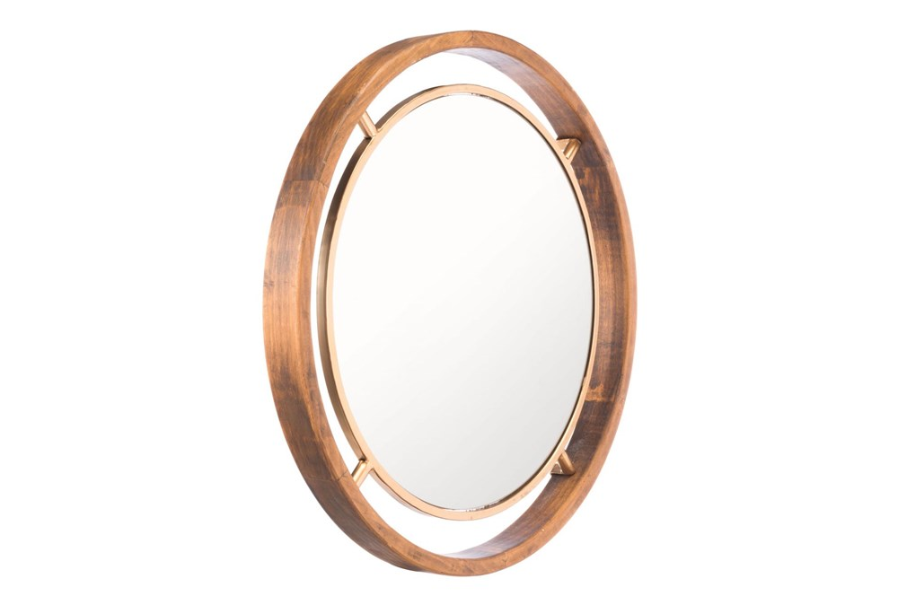 Gold Round Luxe Wall Mirror