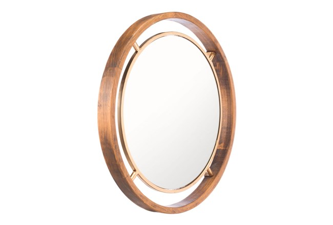 Gold Round Luxe Wall Mirror - 360