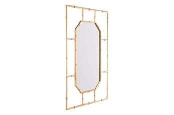 Gold Bamboo Rectangle Wall Mirror