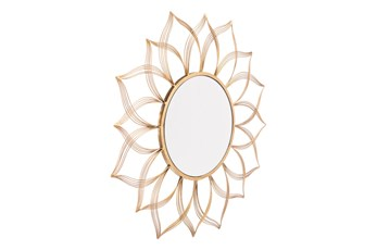Gold Flower Wall Mirror